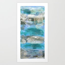 ROCK STUDY IN BLUES Art Print