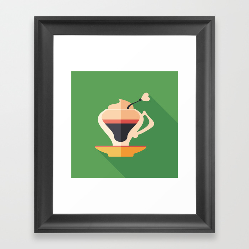 Cup Of Latte Framed Art Print by Yuryvelikanov FRM8832446
