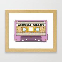 AFROBEAT MIXTAPE Framed Art Print