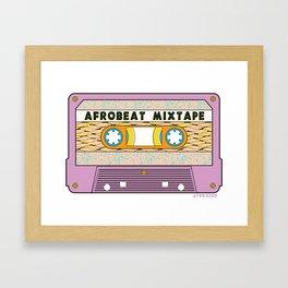 AFROBEAT MIXTAPE Framed Art Print