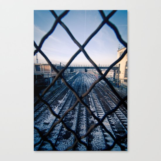 Paris Train Tracks Canvas Print