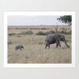 Follow Me, Kenya 2009 Art Print