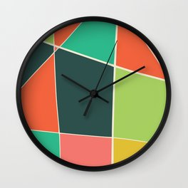 Colorful mosaic for your home Wall Clock