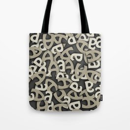 Letter A Gray Tote Bag