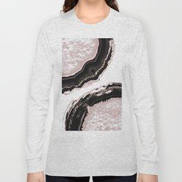 Agate Glitter Glam #4 #gem #decor #art #society6 Long Sleeve T-shirt