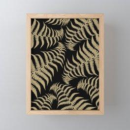 Fern Leaves Pattern - Golden Dream #1 #ornamental #decor #art #society6 Framed Mini Art Print