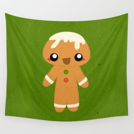 Christmas Card - Gingerbread Kid Wall Tapestry