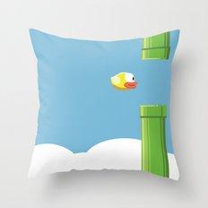 Flappy Bird! Throw Pillow