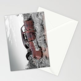 Rusting Remnants of Route 66 in Ghost Town Cuervo New Mexico Stationery Cards
