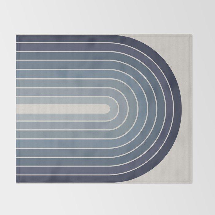 Gradient Arch - Blue Tones II Throw Blanket