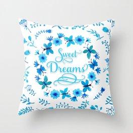 Sweet Dreams - Blue Throw Pillow