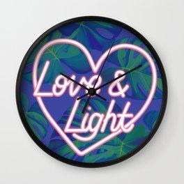 Love and Light Wall Clock