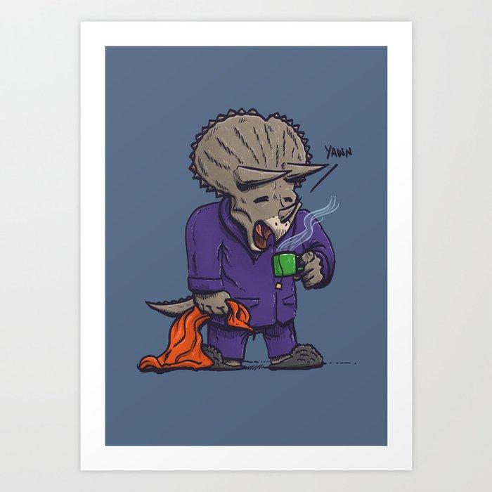 The Sleepysaurus Art Print