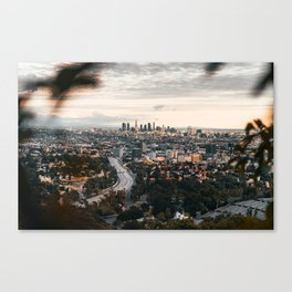 Los Angeles City Line Canvas Print