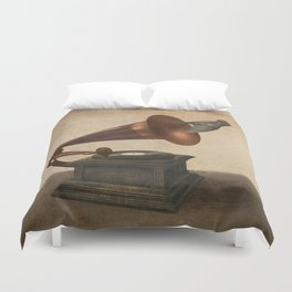 Vintage Songbird - colour option Duvet Cover