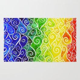 Rainbow Water Waves Rug