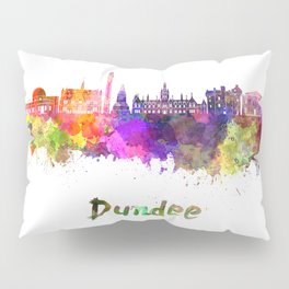 Dundee skyline in watercolor Pillow Sham