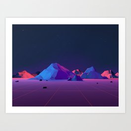 Geometric Landscape VH04 Art Print
