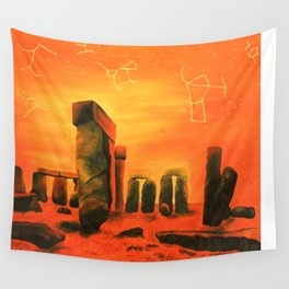 Stonehenge In Contrast Wall Tapestry