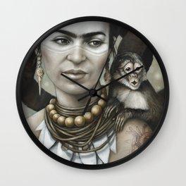 Hommage à Frida Kahlo 3 Wall Clock