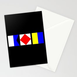 Nautical Flags AFK Away From Keyboard Stationery Cards