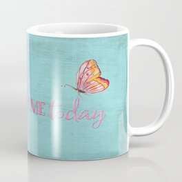 Be awesome today - Roses Flowers and Typography on teal Coffee Mug