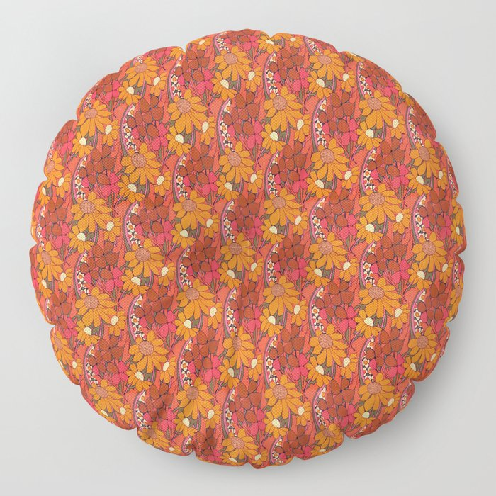 Groovy Flowers Floor Pillow