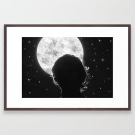 Exaggerated Night Sky Framed Art Print