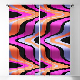 Silky Road Abstract Wave Pattern Design Blackout Curtain