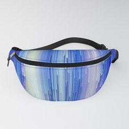 Frozen blue waterfall abstract digital painting Fanny Pack