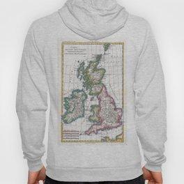 Vintage Map of British Isles (1780) Hoody
