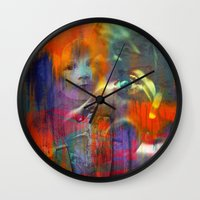 returns Wall Clocks featuring Fast mom returns by Joe Ganech