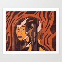 Hair #9 Art Print