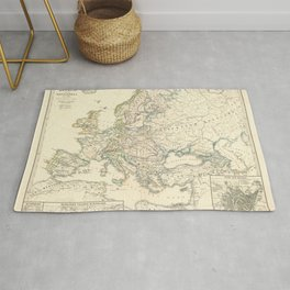 Vintage Map - Spruner-Menke Handatlas (1880) - 11 Napoleonic Europe, 1810 Rug
