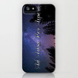 Ad Astra Per Aspera iPhone Case