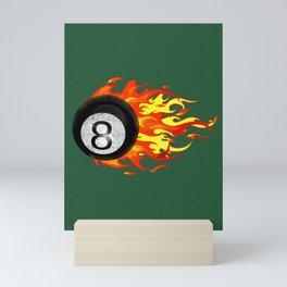 Flaming 8 Ball Mini Art Print