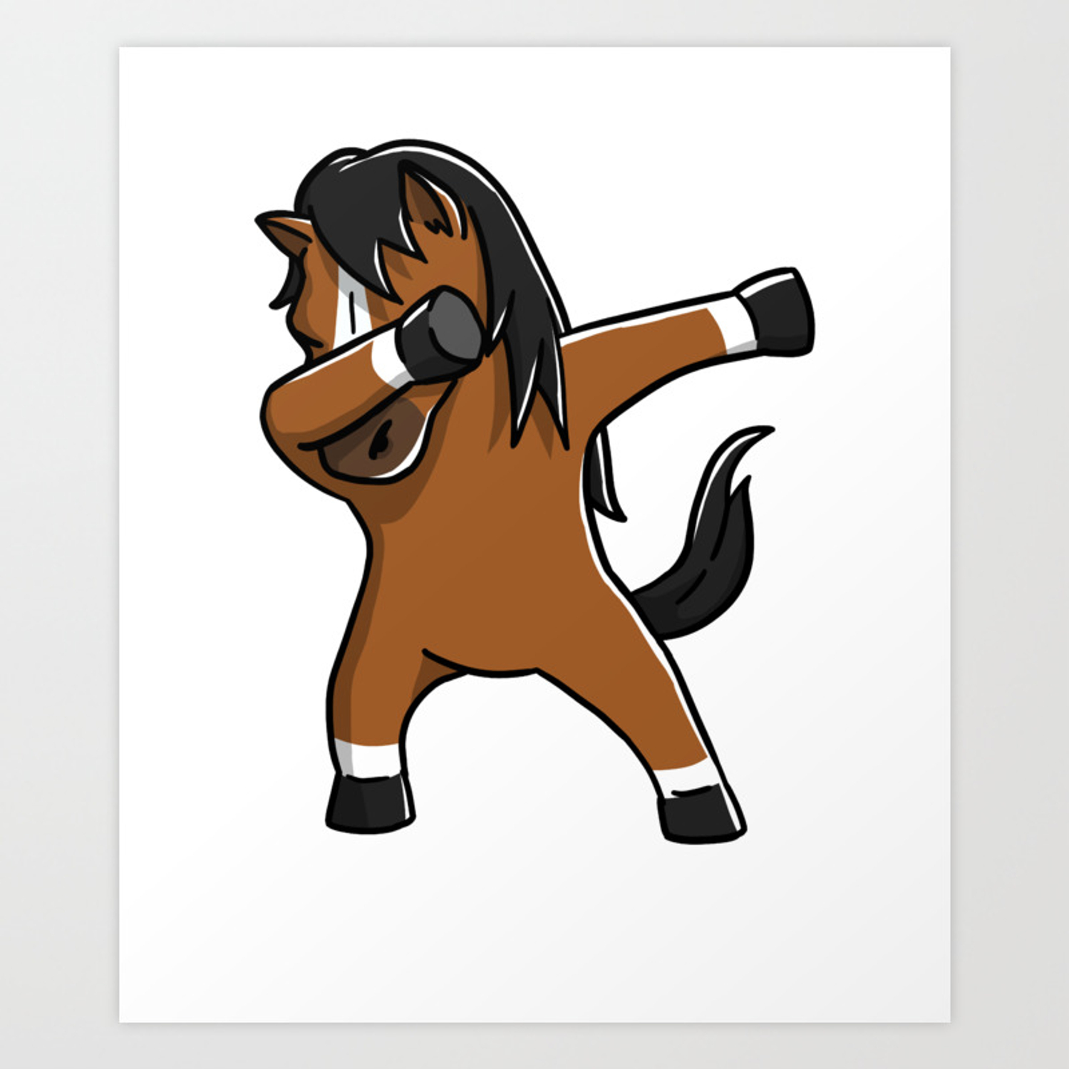 Funny Dabbing Horse Pet Dab Dance Art Print By Barktrends Society6