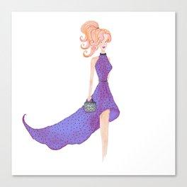 Fashion DIVA - watercolor Canvas Print