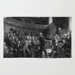 Henry Clay Speaking In The Senate Rug