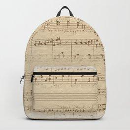 vintage beige music notes Backpack