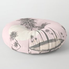 Tropical Sunset In Peach Coral Pastel Colors Floor Pillow