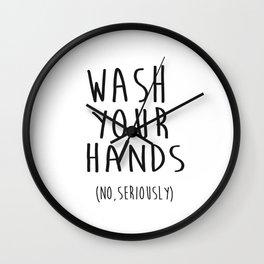Wash Your Hands Bathroom Print Bathroom Decor Nursery Print Nursery Quote So Fresh And So Clean Wall Clock
