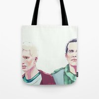 in the flesh Tote Bags featuring Flesh by Crisis