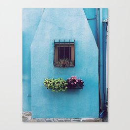 Blue window - arichitecture photography Canvas Print