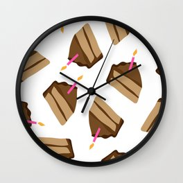 Happy Birthday Piece of Cake & Candle Wall Clock