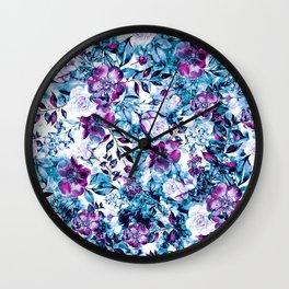 RPE FLORAL BLUE Wall Clock