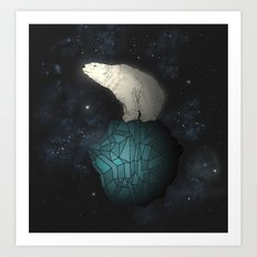 Bear Cosmos Art Print