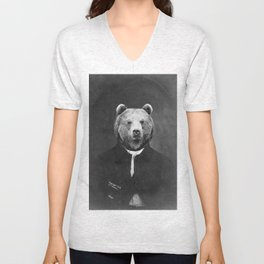 Distinguished Bear Unisex V-Neck