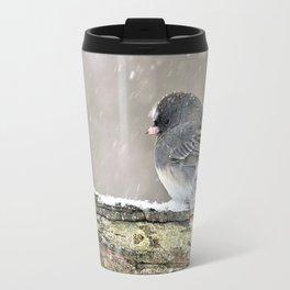 Once Upon a Snow Bird: Junco Travel Mug