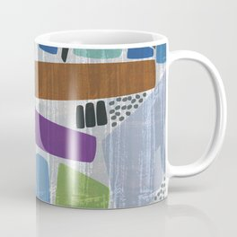 Abstract print, mid century style vintage looking pattern Coffee Mug